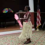 Hawaiian Dancer Performs for Audience