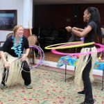 Hula Hooping to Steel Pan Drum Music